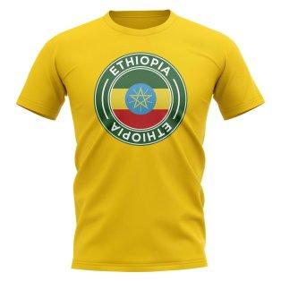 Ethiopia Football Badge T-Shirt (Yellow)