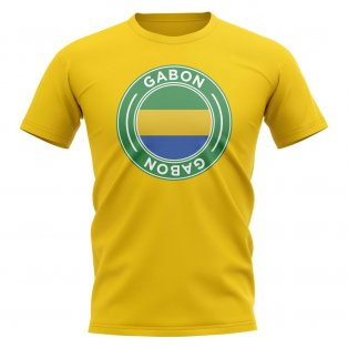 Gabon Football Badge T-Shirt (Yellow)