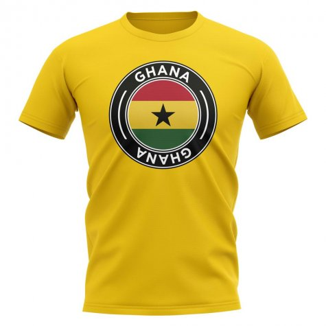 Ghana Football Badge T-Shirt (Yellow)