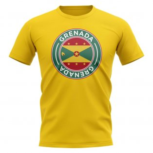 Grenada Football Badge T-Shirt (Yellow)