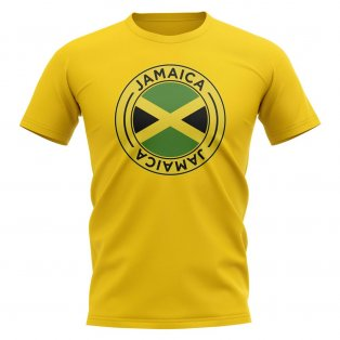Jamaica Football Badge T-Shirt (Yellow)