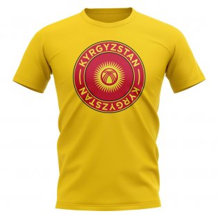 Kyrgyzstan Football Badge T-Shirt (Yellow)