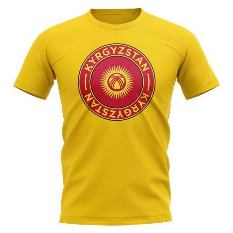 Kyrgyzstan Football Badge T-Shirt (Yellow)
