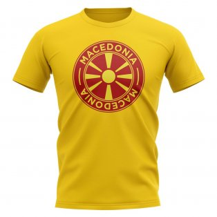 Macedonia Football Badge T-Shirt (Yellow)