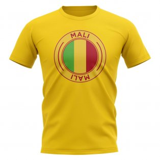 Mali Football Badge T-Shirt (Yellow)