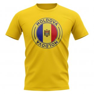 Moldova Football Badge T-Shirt (Yellow)