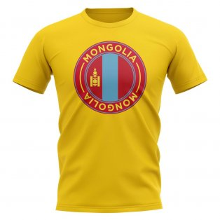Mongolia Football Badge T-Shirt (Yellow)