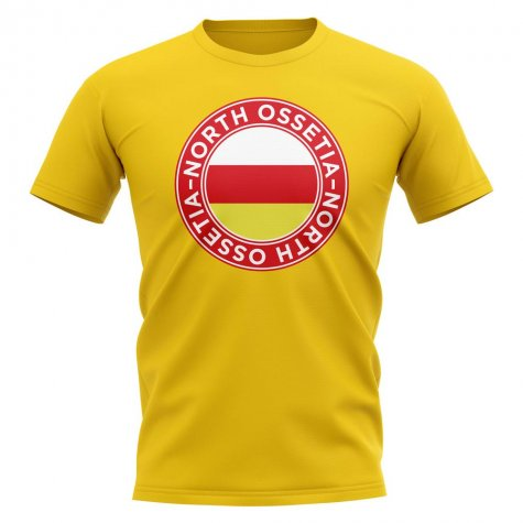 North Ossetia Football Badge T-Shirt (Yellow)