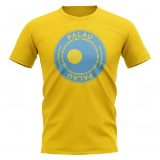 Palau Football Badge T-Shirt (Yellow)