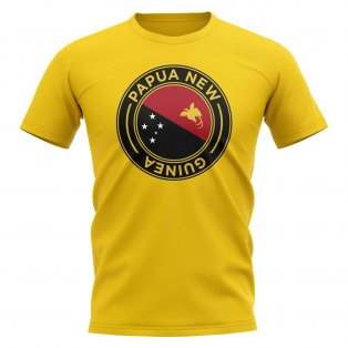 Papa New Guinea Football Badge T-Shirt (Yellow)