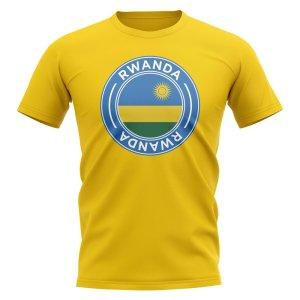 Rwanda Football Badge T-Shirt (Yellow)