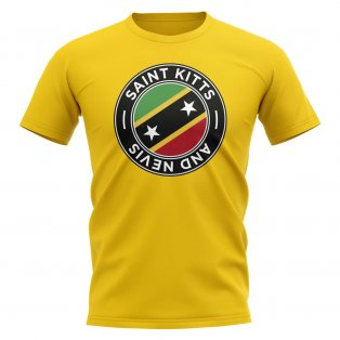 Saint Kitts and Nevis Football Badge T-Shirt (Yellow)