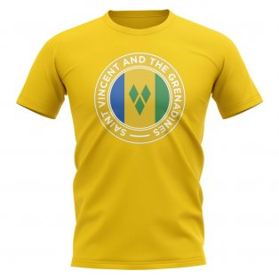 Saint Vincent and Grenadines Football Badge T-Shirt (Yellow)
