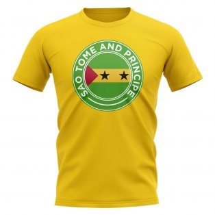 Sao Tome and Principe Football Badge T-Shirt (Yellow)