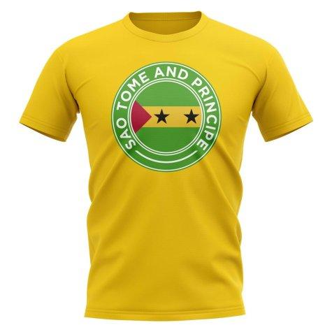 Sao Tome and Principe Football Badge T-Shirt (Yellow)
