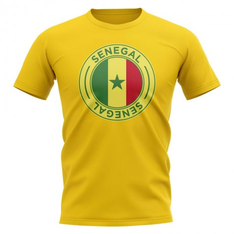 Senegal Football Badge T-Shirt (Yellow)