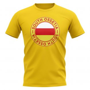 South Ossetia Football Badge T-Shirt (Yellow)
