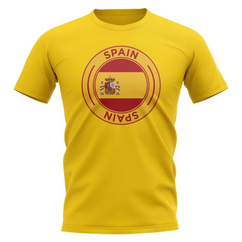 Spain Football Badge T-Shirt (Yellow)
