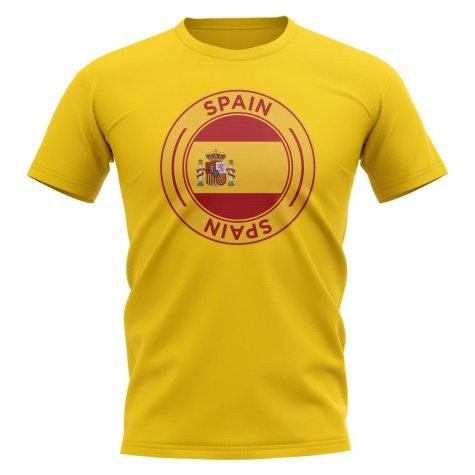 Spain Football Badge T-Shirt (Yellow)