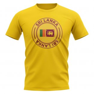 Sri Lanka Football Badge T-Shirt (Yellow)