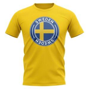 Sweden Football Badge T-Shirt (Yellow)
