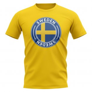 Sweden Football Badge T-Shirt (Yellow)