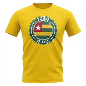 Togo Football Badge T-Shirt (Yellow)