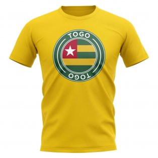 Togo Football Badge T-Shirt (Yellow)