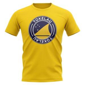 Tokelau Football Badge T-Shirt (Yellow)