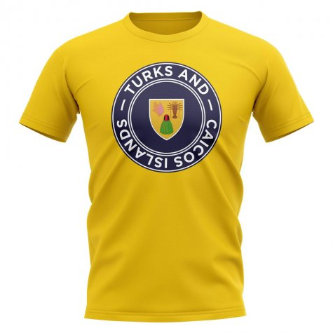 Turks and Caicos Football Badge T-Shirt (Yellow)