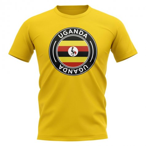 Uganda Football Badge T-Shirt (Yellow)