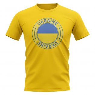 Ukraine Football Badge T-Shirt (Yellow)