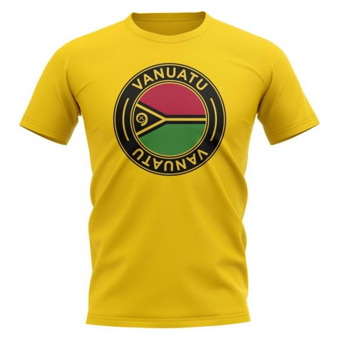 Vanuatu Football Badge T-Shirt (Yellow)