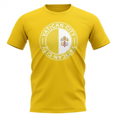 Vatican City Football Badge T-Shirt (Yellow)