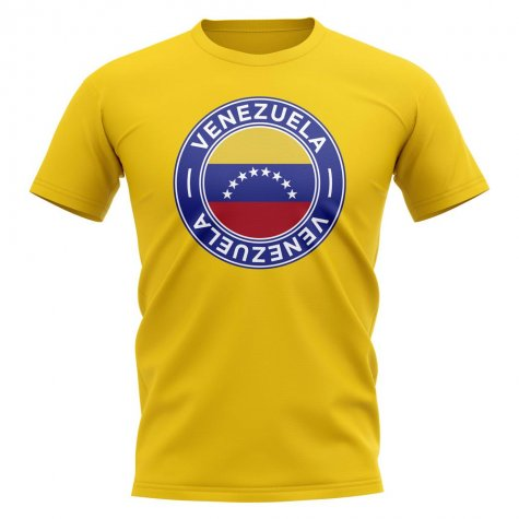 Venezuela Football Badge T-Shirt (Yellow)