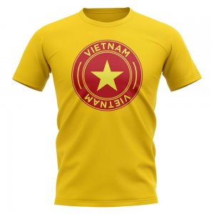 Vietnam Football Badge T-Shirt (Yellow)
