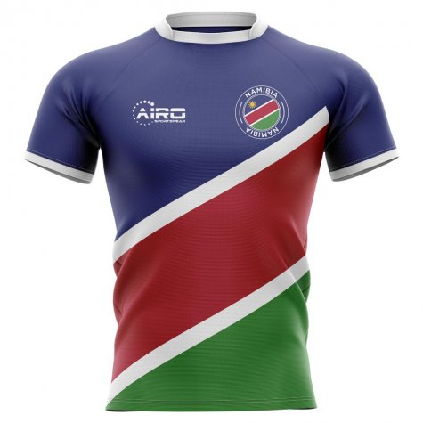 2019-2020 Namibia Flag Concept Rugby Shirt - Little Boys