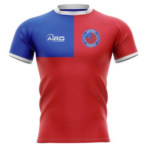 2020-2021 Samoa Flag Concept Rugby Shirt - Little Boys