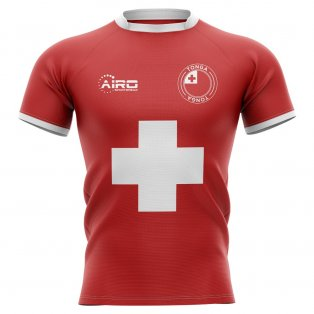 2019-2020 Tonga Flag Concept Rugby Shirt