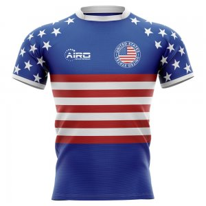 2019-2020 United States USA Flag Concept Rugby Shirt - Kids