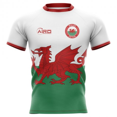 2020-2021 Wales Flag Concept Rugby Shirt - Kids