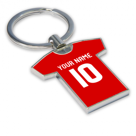 Personalised Aberdeen Football Shirt Key Ring