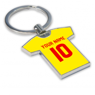 Personalised Albion Rovers Football Shirt Key Ring