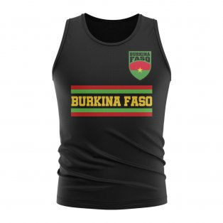 Burkina Faso Core Football Country Sleeveless Tee (Black)