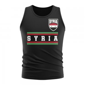 Syria Core Football Country Sleeveless Tee (Black)