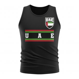 UAE Core Football Country Sleeveless Tee (Black)