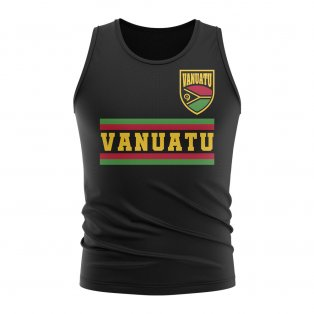 Vanuatu Core Football Country Sleeveless Tee (Black)