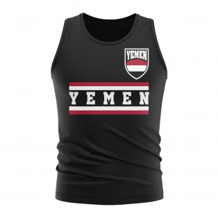 Yemen Core Football Country Sleeveless Tee (Black)
