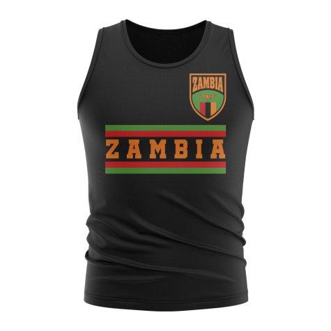 Zambia Core Football Country Sleeveless Tee (Black)