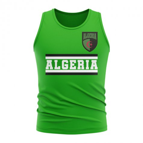 Algeria Core Football Country Sleeveless Tee (Green)